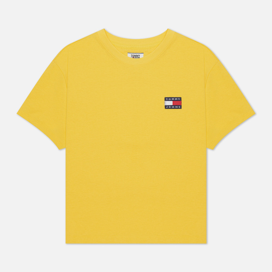 Женская футболка Tommy Jeans Tommy Badge Cropped Fit Star Fruit Yellow
