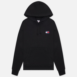 Женская толстовка Tommy Jeans Tommy Badge Organic Cotton Hoodie Black