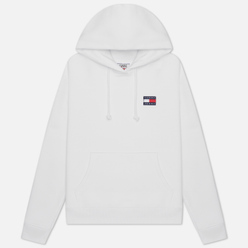 Женская толстовка Tommy Jeans Tommy Badge Organic Cotton Hoodie White