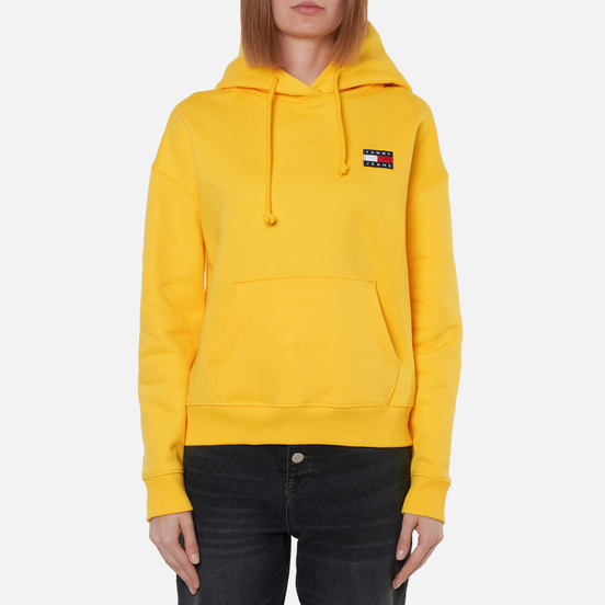 Женская толстовка Tommy Jeans Tommy Badge Organic Cotton Hoodie Star Fruit Yellow