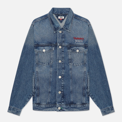 Женская джинсовая куртка Tommy Jeans Denim Oversized Fit Trucker Save Pf Mid Blue Rigid