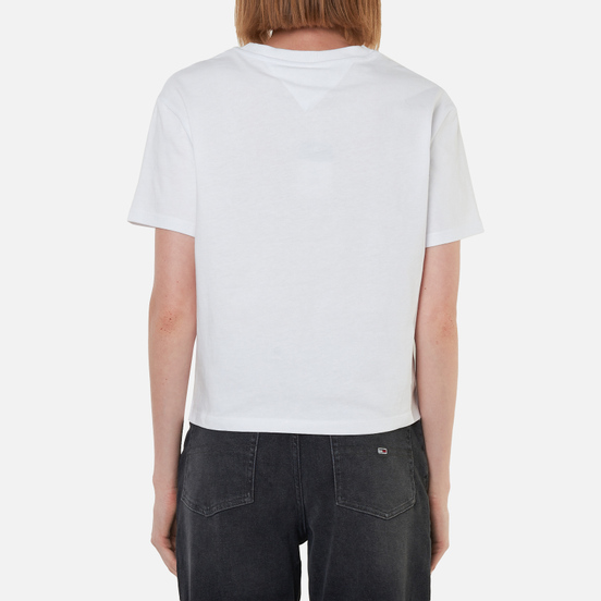 Женская футболка Tommy Jeans Organic Cotton Cropped Fit White