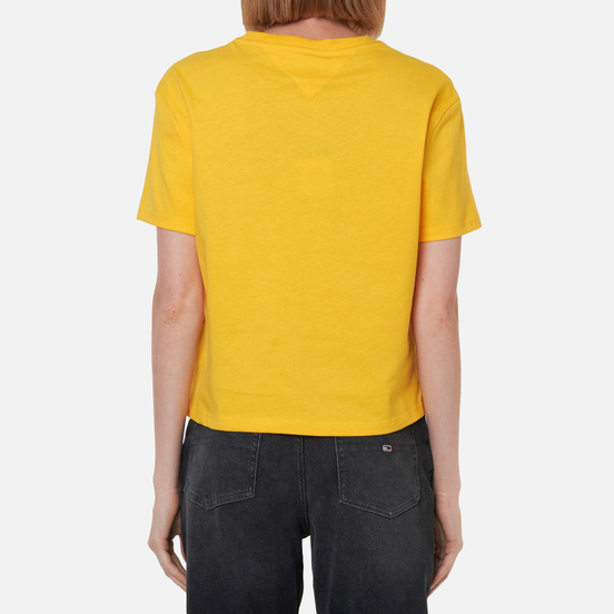 Женская футболка Tommy Jeans Organic Cotton Cropped Fit Star Fruit Yellow