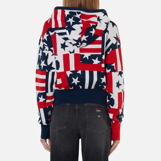 Женская толстовка Tommy Jeans Stars And Stripes Oversized Fit Star Stripe Print
