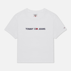 Женская футболка Tommy Jeans Organic Cotton Modern Linear Logo White