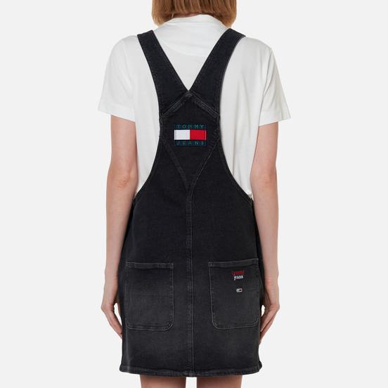 Женское платье Tommy Jeans Heritage Recycled Denim Dungaree Save Pf Black Comfort