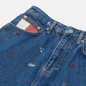 Женские джинсы Tommy Jeans Recycled Embroidery High Rise Mom Star Critter Blue Rigid фото - 1