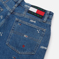 Женские джинсы Tommy Jeans Recycled Embroidery High Rise Mom Star Critter Blue Rigid фото - 2
