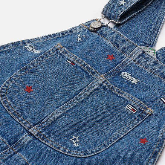 Женское платье Tommy Jeans Recycled Denim Embroidery Dungaree Star Critter Blue Rigid