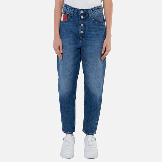 Женские джинсы Tommy Jeans Mom Tapered Recycled High Rise Save Pf Mid Blue Rigid