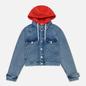 Женская джинсовая куртка Tommy Jeans Hoody Neck Cropped Denim Marcia Mid Blue Rigid фото - 0