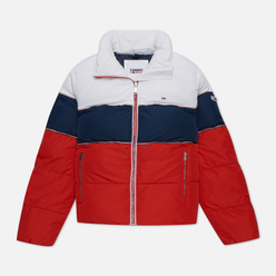 Женский пуховик Tommy Jeans Colour-Blocked Recycled Polyester Puffer Twilight Navy/Multi