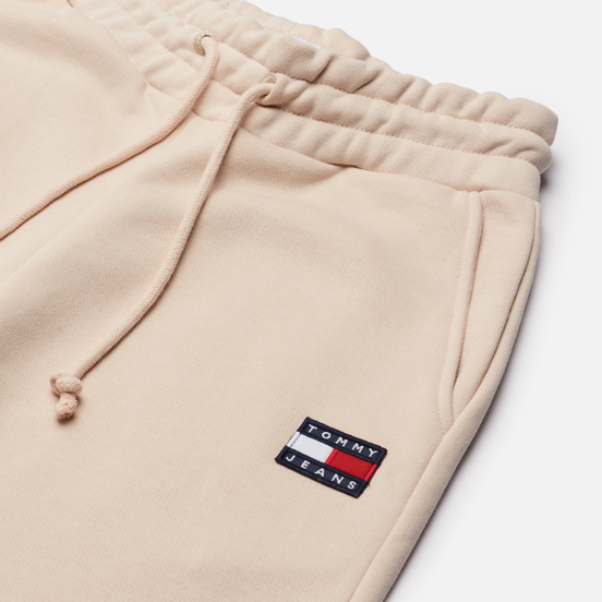 Женские брюки Tommy Jeans Tommy Badge Relaxed Joggers Smooth Stone