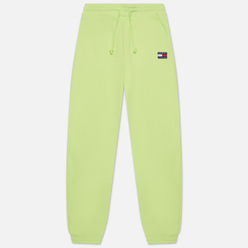 Женские брюки Tommy Jeans Tommy Badge Relaxed Fit Joggers Faded Lime