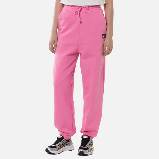 Женские брюки Tommy Jeans Tommy Badge Relaxed Fit Joggers Pink Daisy