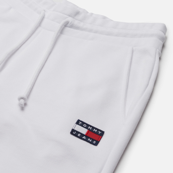 Женские брюки Tommy Jeans Tommy Badge Relaxed Fit Joggers White