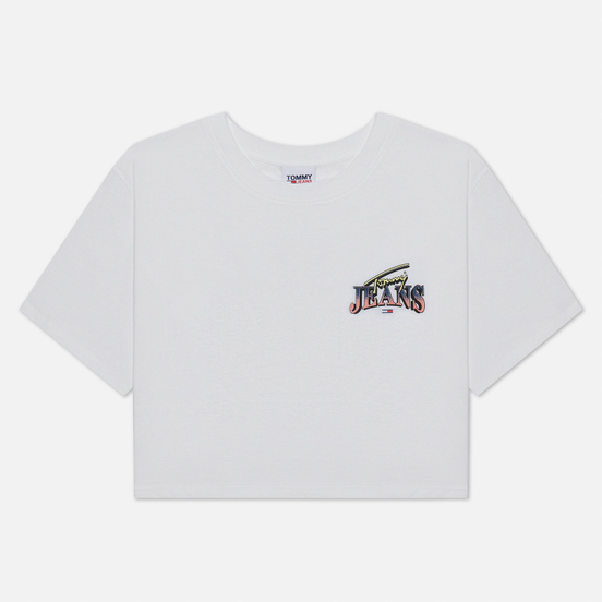 Женская футболка Tommy Jeans Back Graphic Cropped Fit White