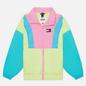 Женская куртка ветровка Tommy Jeans Colour-Blocked Tommy Badge Windbreaker Faded Lime/Multi фото - 0