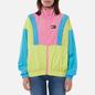 Женская куртка ветровка Tommy Jeans Colour-Blocked Tommy Badge Windbreaker Faded Lime/Multi фото - 2