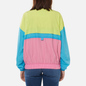 Женская куртка ветровка Tommy Jeans Colour-Blocked Tommy Badge Windbreaker Faded Lime/Multi фото - 3