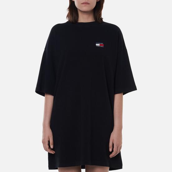 Женское платье Tommy Jeans Tommy Badge Oversized Black