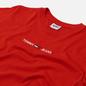 Женская футболка Tommy Jeans Logo Embroidery Organic Cotton Deep Crimson фото - 1