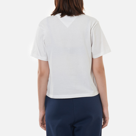 Женская футболка Tommy Jeans Logo Embroidery Organic Cotton White