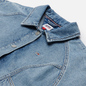 Женская джинсовая куртка Tommy Jeans Back Logo Cropped Denim Cargo Leon Light Blue фото - 1