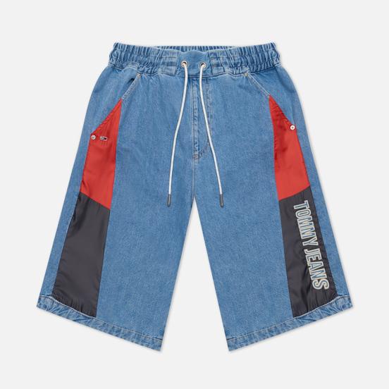Женские шорты Tommy Jeans Colour-Blocked Panels Baggy Denim Fame Mix Light Blue Rigid