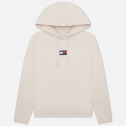 Женская толстовка Tommy Jeans Tommy Center Badge Hoodie Smooth Stone