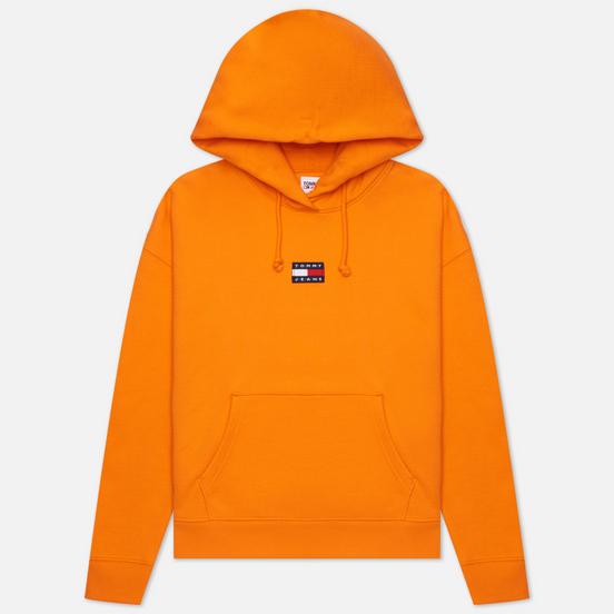 Женская толстовка Tommy Jeans Tommy Center Badge Hoodie Washed Orange