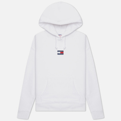 Женская толстовка Tommy Jeans Tommy Center Badge Hoodie White