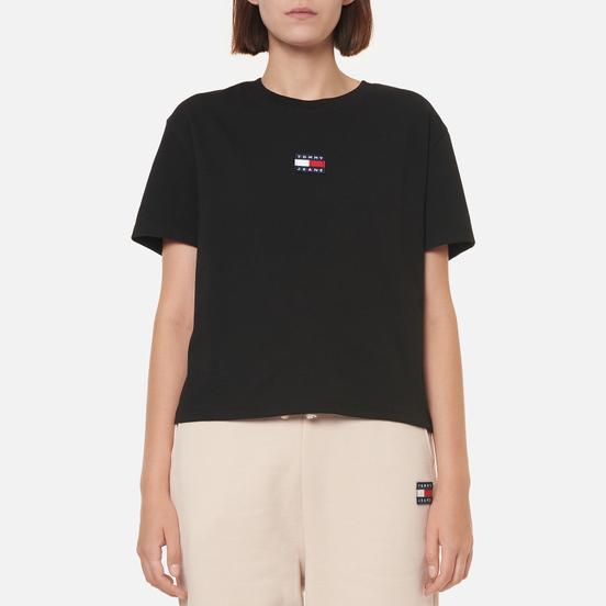 Женская футболка Tommy Jeans Tommy Center Badge Black
