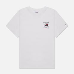 Женская футболка Tommy Jeans Relaxed Homespun Flag White