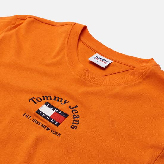 Женская футболка Tommy Jeans Boxy Crop Timeless Tommy 1 Washed Orange