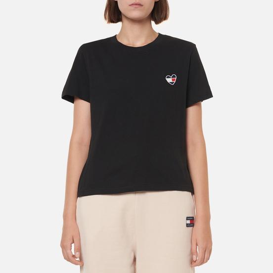 Женская футболка Tommy Jeans Regular Homespun Heart Black