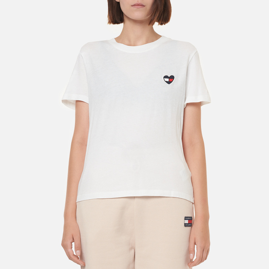 Женская футболка Tommy Jeans Regular Homespun Heart White