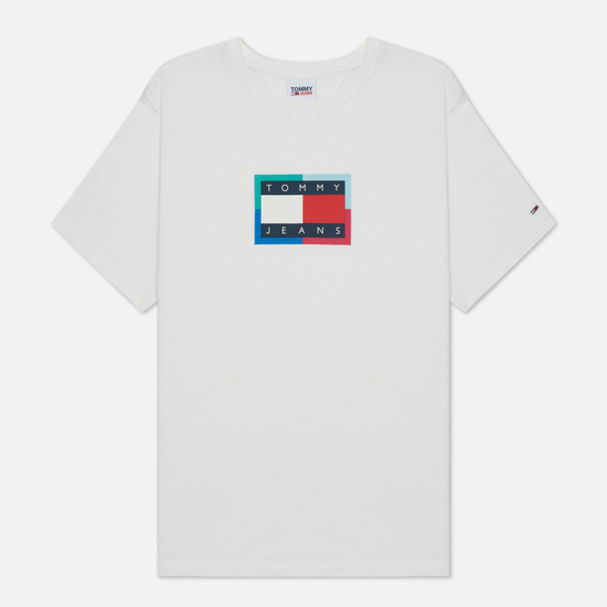 Женская футболка Tommy Jeans Relaxed Multi Flag White
