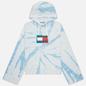 Женская толстовка Tommy Jeans Tommy Badge Tie-Dye Boxy Hoody Tie Dye Print фото - 0