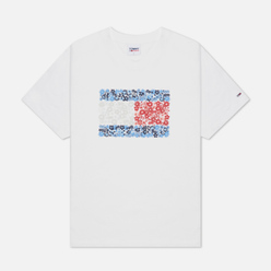 Женская футболка Tommy Jeans Relaxed Floral Flag White