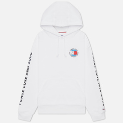 Женская толстовка Tommy Jeans Oversized Peace Smiley Hoodie White