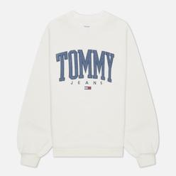 Женская толстовка Tommy Jeans ABO Collegiate Crew Neck Ivory Silk