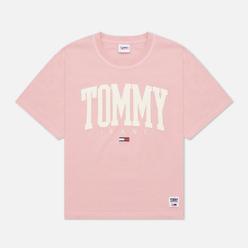 Женская футболка Tommy Jeans ABO Collegiate Broadway Pink
