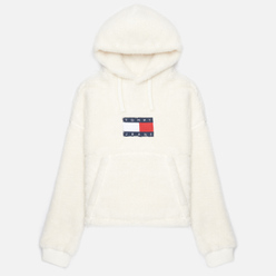 Женская толстовка Tommy Jeans ABO Cropped Plush Hoodie Ivory