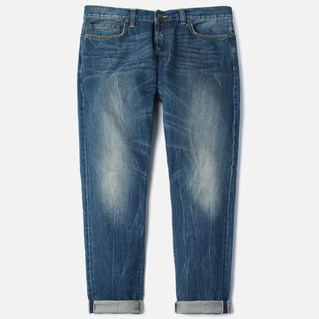 Мужские джинсы Carhartt WIP Kennedy Kasano Japanese Selvedge 12.8 Oz Blue Tank Washed