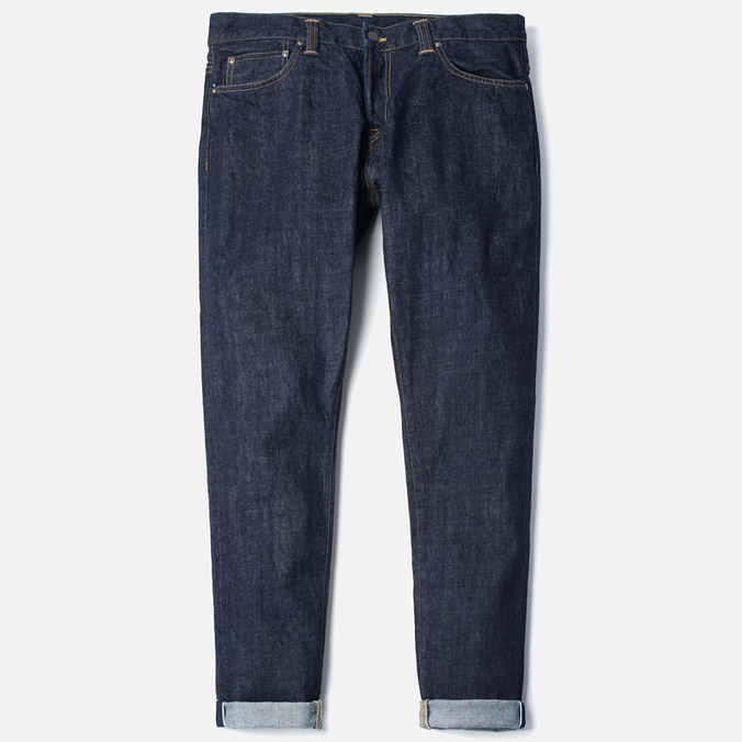 Мужские джинсы Carhartt WIP Privateer 14 Oz Rinsed Blue