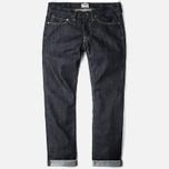 Мужские джинсы Edwin ED-47 Regular Dark Blue Rinsed фото- 0