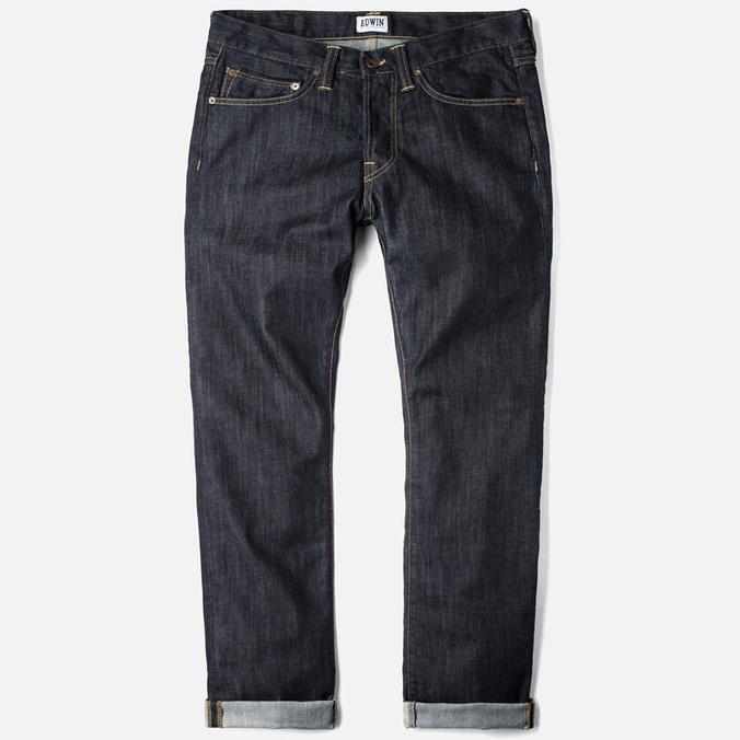 Мужские джинсы Edwin ED-47 Regular Dark Blue Rinsed