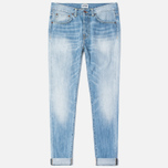Мужские джинсы Edwin ED-80 Slim Tapered Dark Blue Haze Used фото- 0