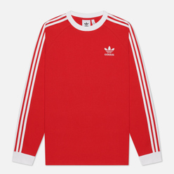 Мужской лонгслив adidas Originals 3-Stripes Scarlet